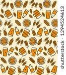 beer seamless pattern. vector... | Shutterstock .eps vector #1294524613