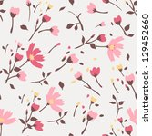 seamless summer tiny floral... | Shutterstock .eps vector #129452660