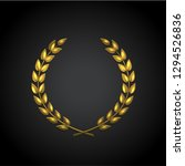 golden laurel wreath ... | Shutterstock . vector #1294526836