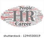 vector concept conceptual hr or ... | Shutterstock .eps vector #1294530019
