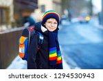little school kid boy of...   Shutterstock . vector #1294530943