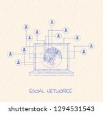 drawing pencil scheme of ... | Shutterstock . vector #1294531543