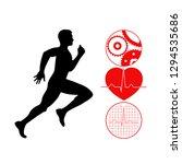 running man symbol... | Shutterstock . vector #1294535686