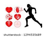 running man symbol... | Shutterstock . vector #1294535689