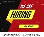 we are hiring with geometric... | Shutterstock .eps vector #1294561789