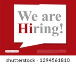 we are hiring with geometric... | Shutterstock .eps vector #1294561810