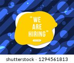 we are hiring with geometric... | Shutterstock .eps vector #1294561813