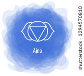 ajna icon. the sixth frontal... | Shutterstock .eps vector #1294570810