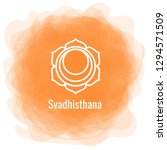 swadhisthana icon. the second... | Shutterstock .eps vector #1294571509