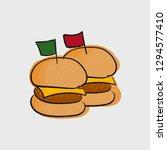 burger fast food concept line...