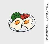 egg fried fast food concept...