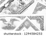 collectible share certificates  ...   Shutterstock . vector #1294584253