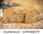 sliced homemade brown bread... | Shutterstock . vector #1294588579