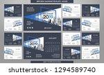 desk calendar 2019 template  ... | Shutterstock .eps vector #1294589740