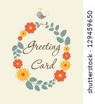 cute floral card. vector... | Shutterstock .eps vector #129459650