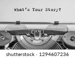 what's your story  the text is... | Shutterstock . vector #1294607236