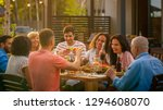 big family garden party...   Shutterstock . vector #1294608070