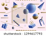 playful seamless pattern with... | Shutterstock .eps vector #1294617793