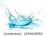turquoise water splash ...   Shutterstock . vector #1294618903