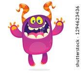 amazing cartoon funny monster.... | Shutterstock .eps vector #1294623436