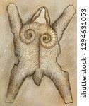 golden fleece drawing | Shutterstock . vector #1294631053
