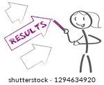 businesswoman in the office is... | Shutterstock .eps vector #1294634920