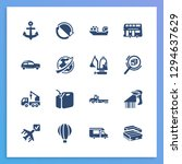 vehicle icon set and suv with...