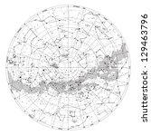 high detailed sky map of... | Shutterstock .eps vector #129463796