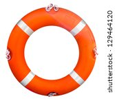 Life Buoy Isolated Over A Whit...