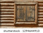 wooden window with shutters. a... | Shutterstock . vector #1294644913