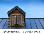 wooden window with shutters. a... | Shutterstock . vector #1294644916