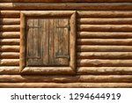 wooden window with shutters. a... | Shutterstock . vector #1294644919