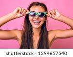 positive close up portrait of... | Shutterstock . vector #1294657540