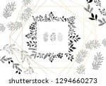 hand drawn frames with herbs... | Shutterstock .eps vector #1294660273