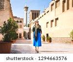 woman walking in old dubai  uae....   Shutterstock . vector #1294663576