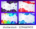 set of vector abstract... | Shutterstock .eps vector #1294669453