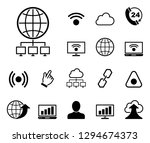 online   website   iconset ... | Shutterstock .eps vector #1294674373