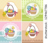 Set Easter Vintage Cards With...