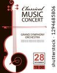 classical music concert poster... | Shutterstock .eps vector #1294685806