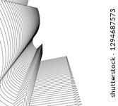 linear 3d architecture   Shutterstock .eps vector #1294687573