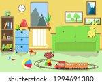 children's room with toys   Shutterstock .eps vector #1294691380