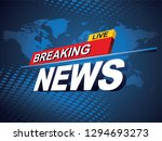 breaking news with world map...   Shutterstock .eps vector #1294693273