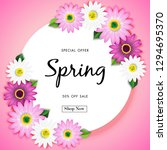 spring sale off background with ... | Shutterstock .eps vector #1294695370