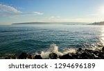 sea landscape. sea water  rocks ... | Shutterstock . vector #1294696189