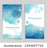 abstract vector watercolor blue ... | Shutterstock .eps vector #1294697710