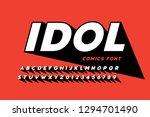 comics style font design ... | Shutterstock .eps vector #1294701490