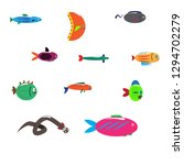 isolated fish. set of... | Shutterstock .eps vector #1294702279