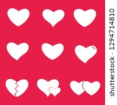 icon set heart .collection of... | Shutterstock .eps vector #1294714810