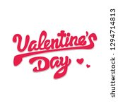 happy valentines day  beautiful ... | Shutterstock .eps vector #1294714813