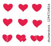 icon set heart .collection of... | Shutterstock .eps vector #1294714816
